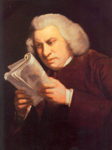 Samuel Johnson, English Poet, Essayist and Thorn in the Side of Edmund Burke. His birthday was September 18th.